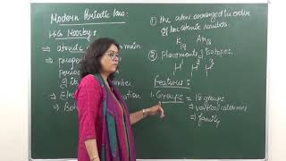Chemistry, Class X  Chapter: Classification of elements and periodicity in properties   Topic:  Modern periodic law  Classroom lecture by Shaillee Kaushal. Language : English mixed with Hindi.