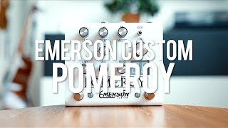 """My demo of the Emerson Custom Pomeroy!*this is a sponsored video*https://emersoncustom.com/""""The Emerson Pomeroy is a Boost, Overdrive & Distortion Pedal featuring a 100% Analog Signal Path. Its jammed packed with an immense amount of features that allow the player ultimate control over their tonal palate and shaping needs. The Emerson Pomeroy Features 2 Independent Channels that pair incredibly well with each other. They can be used independently or together. There is no order toggle on this pedal, as we believe the Pomeroy's Boost Sounds best after its Overdrive/Distortion circuit.""""Guitar: Fano PX6Amp: Tone King 20th Anniversary ImperialCables: Toaster Cables - http://www.toastercables.com/Patch cables: Mulder Audio - http://www.mulderaudio.com/Contact: livingroomgear@gmail.comhttps://www.patreon.com/livingroomgeardemoshttps://www.facebook.com/livingroomgearhttps://twitter.com/livingroomgearhttp://instagram.com/livingroomgeardemoshttp://ask.fm/livingroomgearhttp://livingroomgeardemos.tumblr.com"""