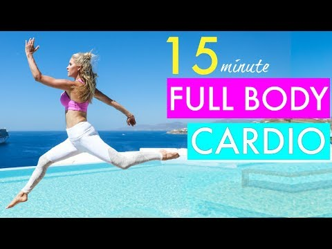 15 Minute Full Body Cardio Workout - CALORIE BLAST | Rebecca Louise