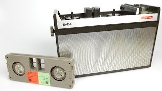 The Sabamobil is one of the rarer tape formats from the 60s. The cartridges may look strange but they hide a simple secret inside.Click 'Show All' to read the FAQsPotential FAQsQ) What speed does the tape run atA) 3.75 ipsQ) How much audio can a tape hold. A) My tape contained a total of approx 90 mins of mono audio when tracks A,B,C & D were added together.Real FAQsQ: What's the name of the track at 07:50A) Kurt Henkels: Junger Mann aus gutem Hause https://youtu.be/T7_Hje0-8UMQ) What's the name of the song at 08:03?A) Peppermint twist. https://youtu.be/g7m6AOn22HkThe version on the Sabamobil is a soundalike group.Q) Does it have an auto-stop mechanism?A) Well if it does, it isn't working on mine - the motor continues to spin at the end of a side and slips on the rubber wheel until the mechanism is manually switched off. Q) Why didn't I pan the audio to the left and right on the reel to reel so I could play the separate tracks.A) I needed to record the tape on a PCM recorder to include those recordings in this video - so dubbing two tracks at once was great because it takes half the time.-------------SUPPORT---------------This channel can be supported through Patreon https://www.patreon.com/techmoanPatrons usually have early access to videos---------------SUBSCRIBE------------------ http://www.youtube.com/user/Techmoan?sub_confirmation=1----------Outro Music-----------Over Time - Vibe Tracks https://youtu.be/VSSswVZSgJw------Outro Sound Effect------ThatSFXGuy - https://youtu.be/5M3-ZV5-QDM