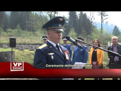 Ceremonie militara la Sinaia