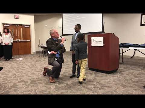 Video: Answering a few questions before leading the flag pledge