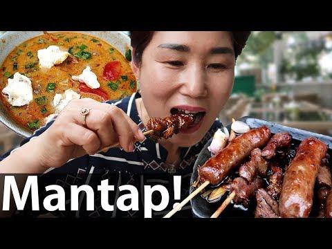 Mama Dari Korea Pertamakali Coba Makanan Indonesia!