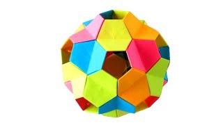 Оригами кусудама из бумаги Little turtle - Tomoko Fuse