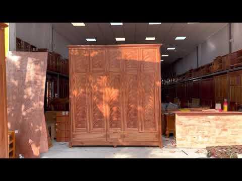 Tủ áo gỗ Xoan Đào cao 2 tầng