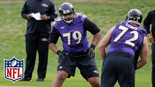 Ronnie Stanley Ravens Rookie Camp Highlights | Baltimore Ravens | NFL by NFL