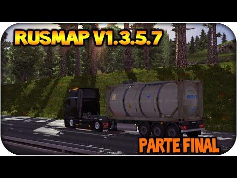 Euro truck simulator 2 | RusMap v1.3.5.7 | Probando mapa en vivo parte 3 final