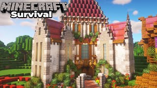 How to build an awesome Mansion in Minecraft 1.15 Survival Let's Play