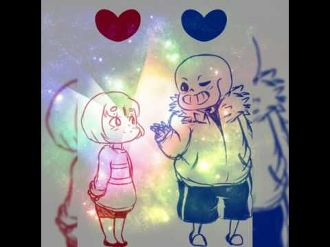 Sans x frisk - Kiss the girl