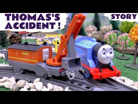 Thomas and Friends Accident Crash with Minions | Marion The Crane Rescue | Thomas Y Sus Amigos