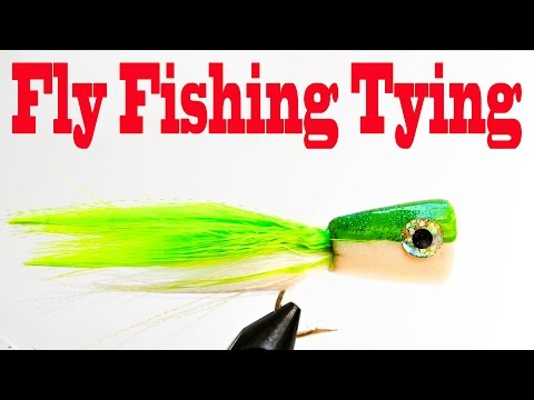 Fly fishing tying freshwater foam bass poppers hd for Fly fishing bobber