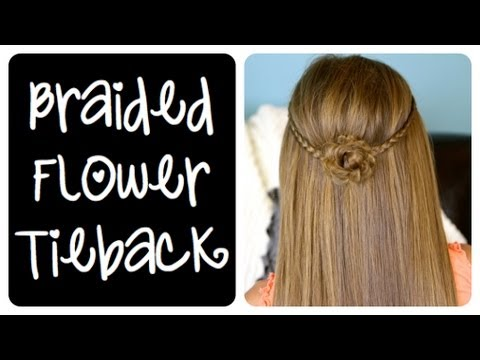 Braided Flower Tieback | Cute Girls Hairstyles