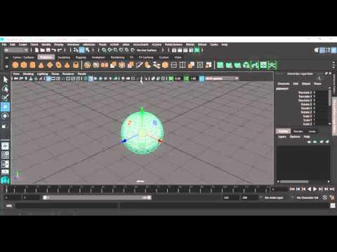 4- Maya Interface  التعرف على واجهات تصميم العاب