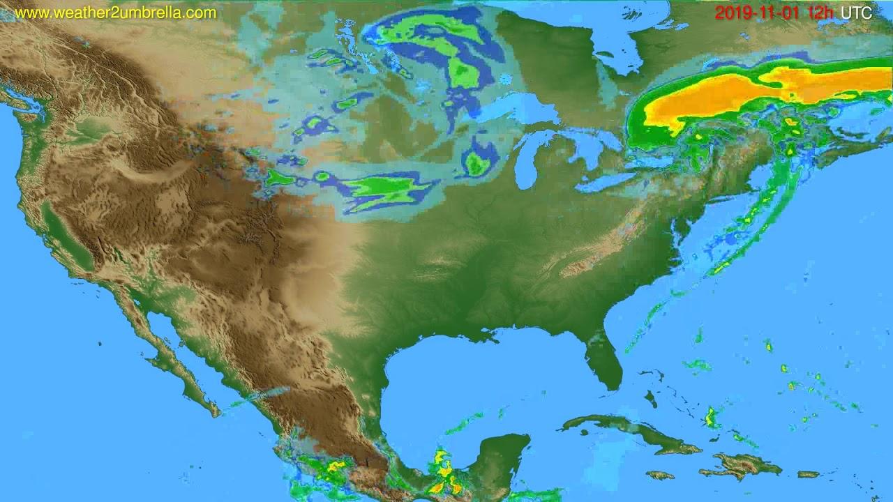 Radar forecast USA & Canada // modelrun: 00h UTC 2019-11-01
