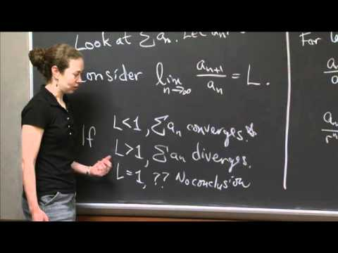 Ratio Test for Convergence | MIT 18.01SC Single Variable Calculus, Fall 2010