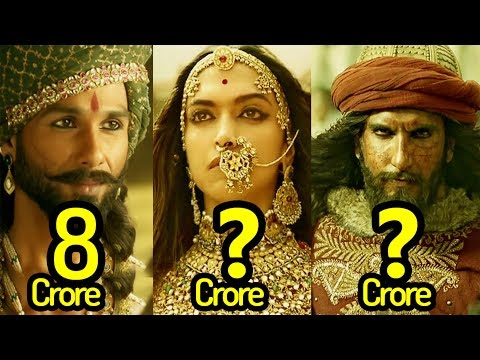 Real Salary Of Padmaavat Movie Actors & Actresses | Ranveer Singh | Shahid Kapoor | Deepika Padukone