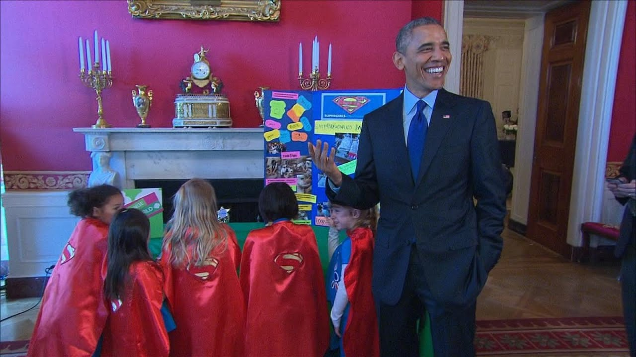 Super-Girls Take the White House by (Brain)storm