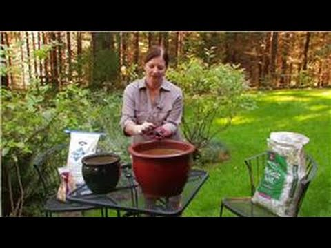 Gardening Preparation Tips : How to Plant in Larger Containers Using Less Potting Soil