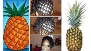 How to Braid Hair - Criss Cross Tutorial (Pineapple)