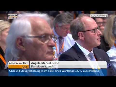 CDU: Angela Merkel - CDU-Parteitag - Rede von Angela  ...
