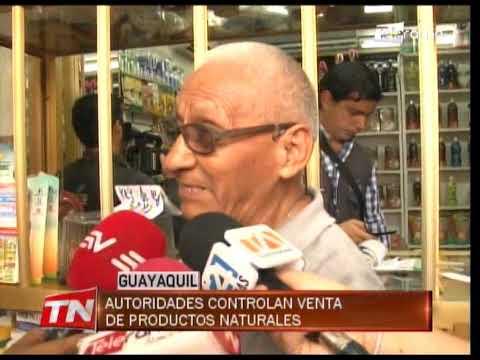 Autoridades controlan venta de productos naturales