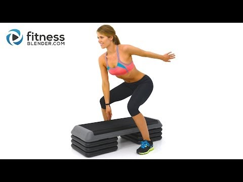 Fat Burning Cardio Step Workout for Butt and Thighs – Step Aerobics Workout Video