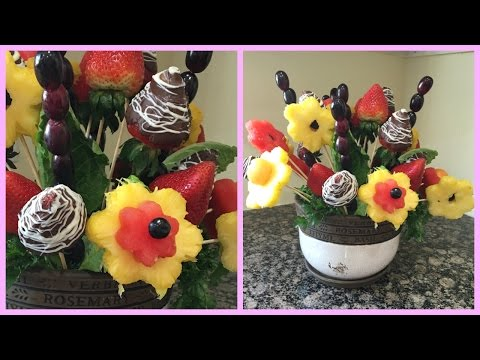 How to make Edible Fruit Bouquet Arrangements (видео)