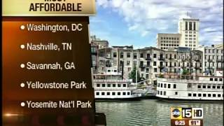 Top 5 most affordable vacation spots in US