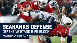 Seahawks Defensive Stand Ends with Leaping FG Block! | Seahawks vs. Cardinals | NFL by NFL