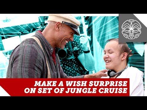 The Rock's Jungle Cruise Make-A-Wish Day