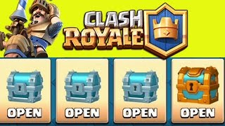 CLASH ROYALE - CHEST OPENING! RARE Gold, Silver, Crown Chest Cards Unboxing