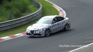 Alfa Romeo Giulia QV Spied Testing At The Nurburgring: Video