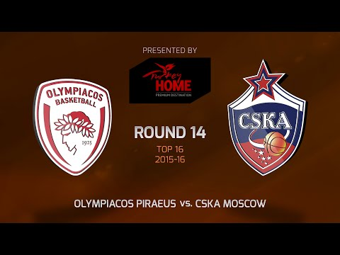 Highlights: Top 16, Round 14, Olympiacos Piraeus 96-99 CSKA Moscow