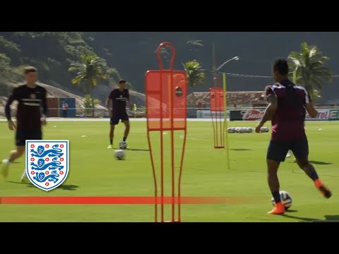 england - FATV were there to capture all the action from a first full day's training in Brazil. The players also greeted eager local fans watching the day's training. ...