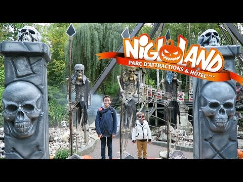 VLOG - JOURNÉE PLEINE DE FRISSONS pour NIGLOWEEN - Nigloland Parc d'Attractions