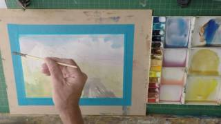 Simple Watercolour Barn Tutorial