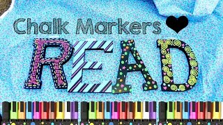 Decorating Letters with Chalk Markers - YouTube