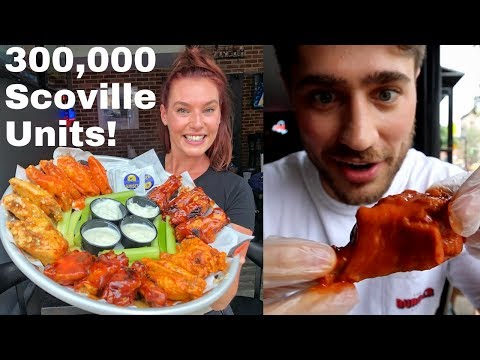 SPICY WING CHALLENGE At Dan & John's In NYC! Had To SIGN A WAIVER! | DEVOUR POWER