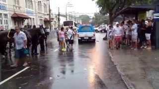 A chuva muito intensa não ajudou e com isso não teve concentração dos torcedores ao redor do estádio São Januário !