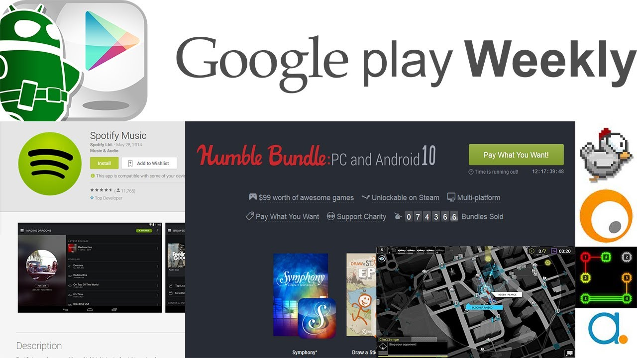 Spotify hacked, Watch Dogs has an Android app, Humble Bundle, more! – Google Play Weekly