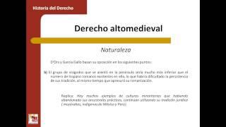 Umh1193sp 2013-14 Bloque 2.2.1 Caracteres Derecho Altomedieval