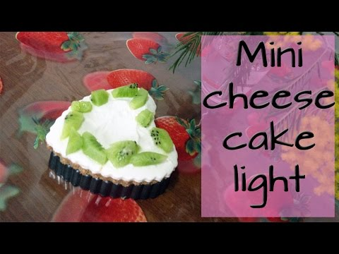 mini cheesecake light - la videoricetta