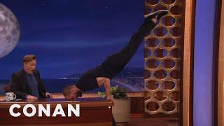 Video Jamie Dornan Turns Conan's Desk Into A Pommel Horse  - CONAN on TBS MP3, 3GP, MP4, WEBM, AVI, FLV Januari 2018