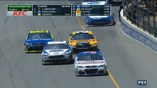 Monster Energy NASCAR Cup Series 2017. Sonoma Raceway. Battle for Win (Stage 1)