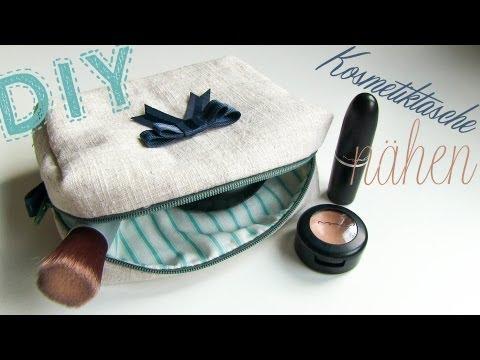 DIY Kosmetiktasche nähen + Schnittmuster Download ♥