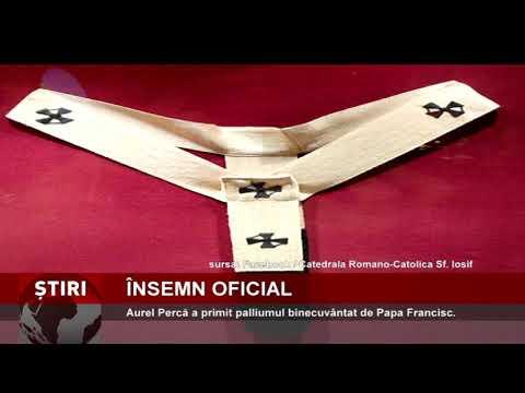 Aurel Percă a primit palliumul binecuvântat de Papa Francisc