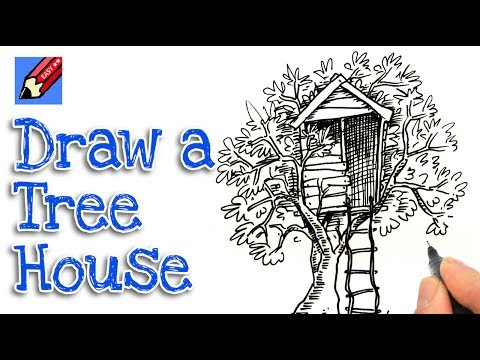 how to draw a treehouse step by step. Interesting Draw Intended How To Draw A Treehouse Step By E
