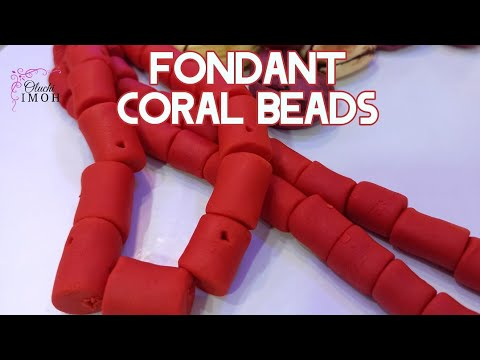Easy Fondant Coral beads tutorial.