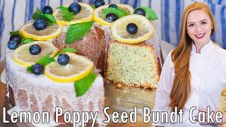Lemon Poppy Seed Bundt Cake by Tatyana's Everyday Food