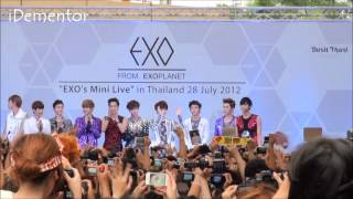 Fancam 12/07/28 EXO Mini Live - Two Moons Interview At Siam Discovery Thailand